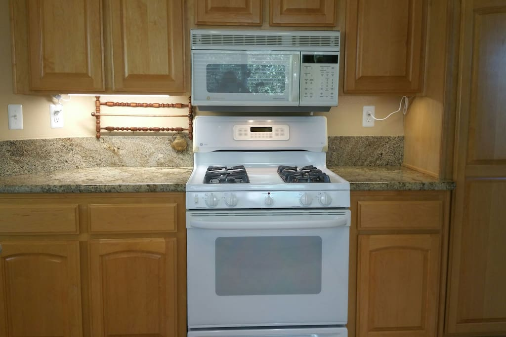 Gas stove and convection microwave