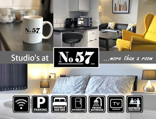 Studio Room 11 at No57 - Superior En-Suite Double