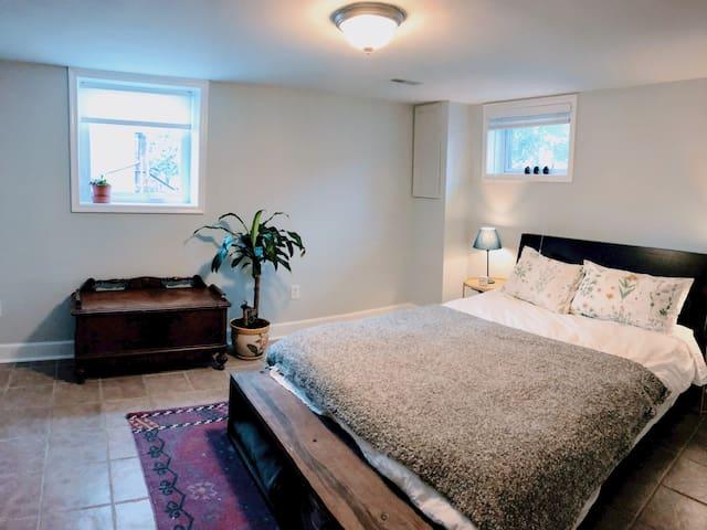 Bright, private suite in the city!