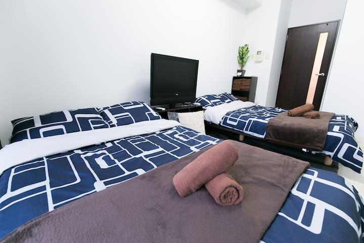 T01【New】1min ST|Nipponbashi|Luxury|WiFi|MAX5 6F - Tennōji-ku, Ōsaka-shi - Apartment