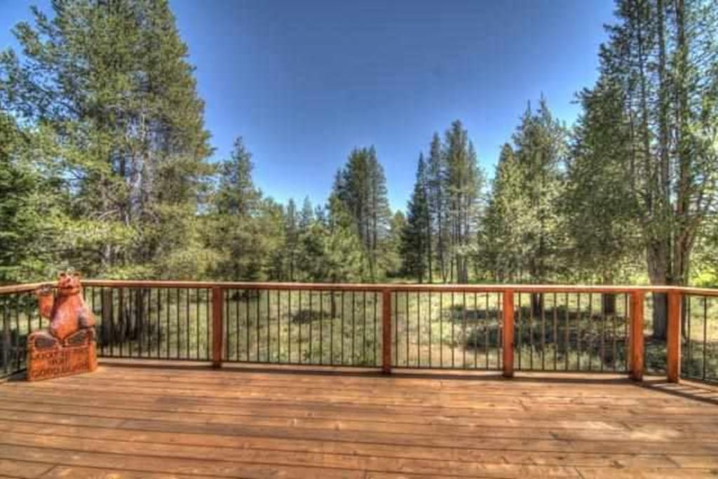 Expansive view from the back deck.