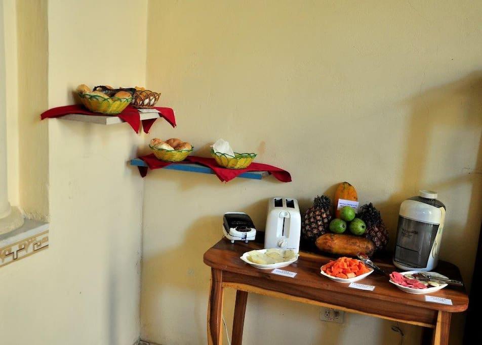 Sala para desayunar