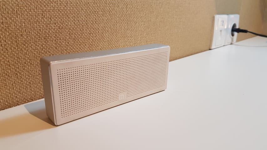 Bluetooth speaker for home entertainment.