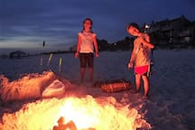 Enjoy an Evening Bonfire on the Beach