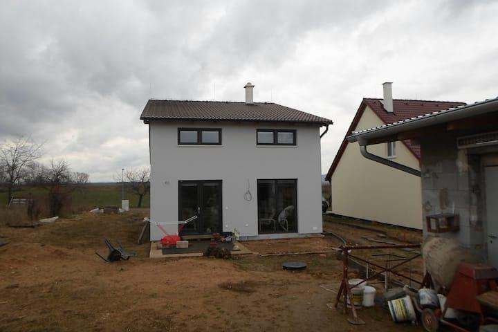House overlooking Pálava hill scenery.