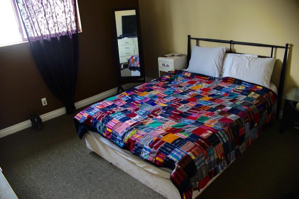 -master: foam    mattress&pillows -full closet w shelves(in both rooms)