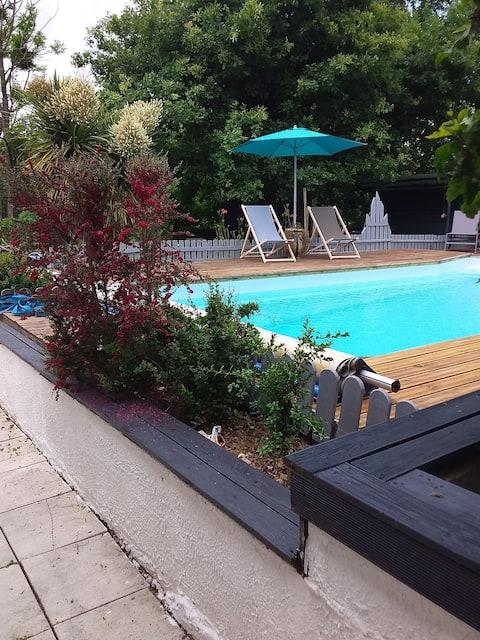 Havuzlu sessiz villa