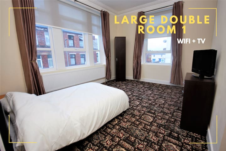 14 Bedroom Hotel | Large Double Room 1  NEW REFURB