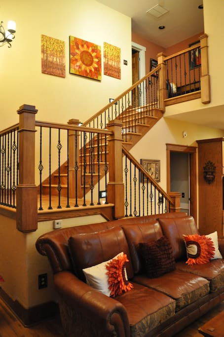 Staircase to 2nd level bedrooms