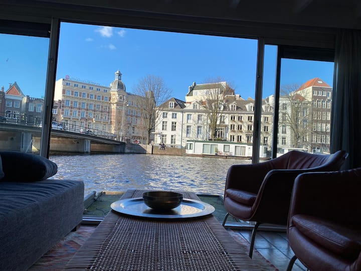 Amsterdam Houseboat with a View