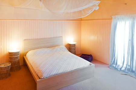 Chambre d'hôtes confortable...Grand et beau volume - Belvèze-du-Razès - Guesthouse