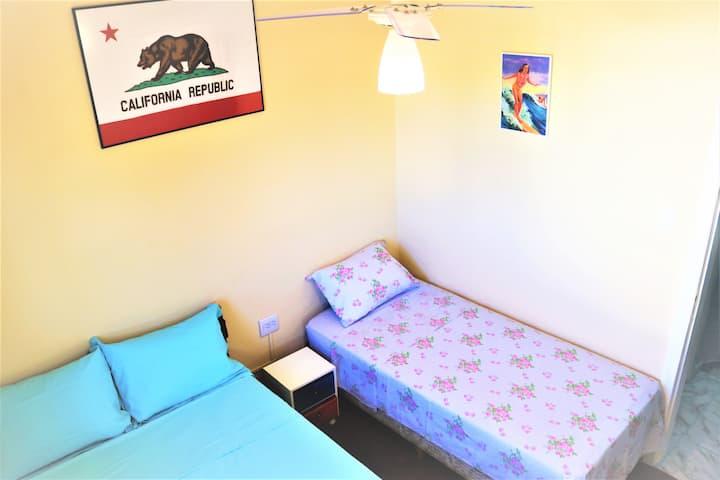 California kamer voor stel of 3 personen