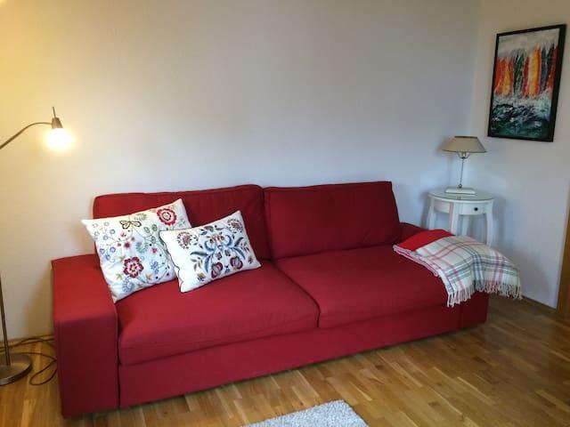 Gemütliche Wohnung mit schönem Ausblick + Seenähe