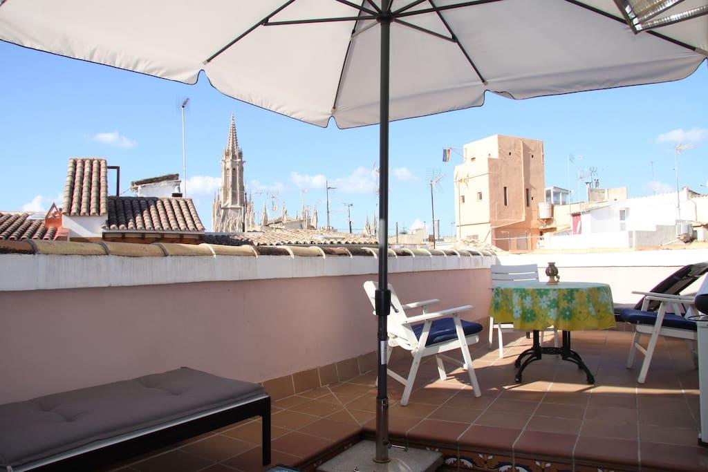 Über die Dächer von Palma