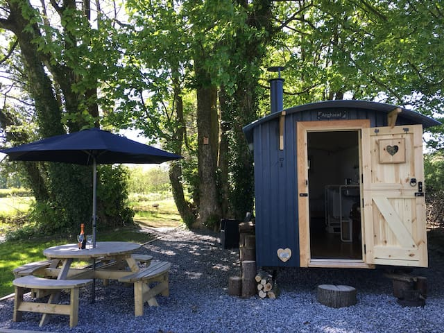 Shepherd's Hut Stay With Champagne and Chocolates