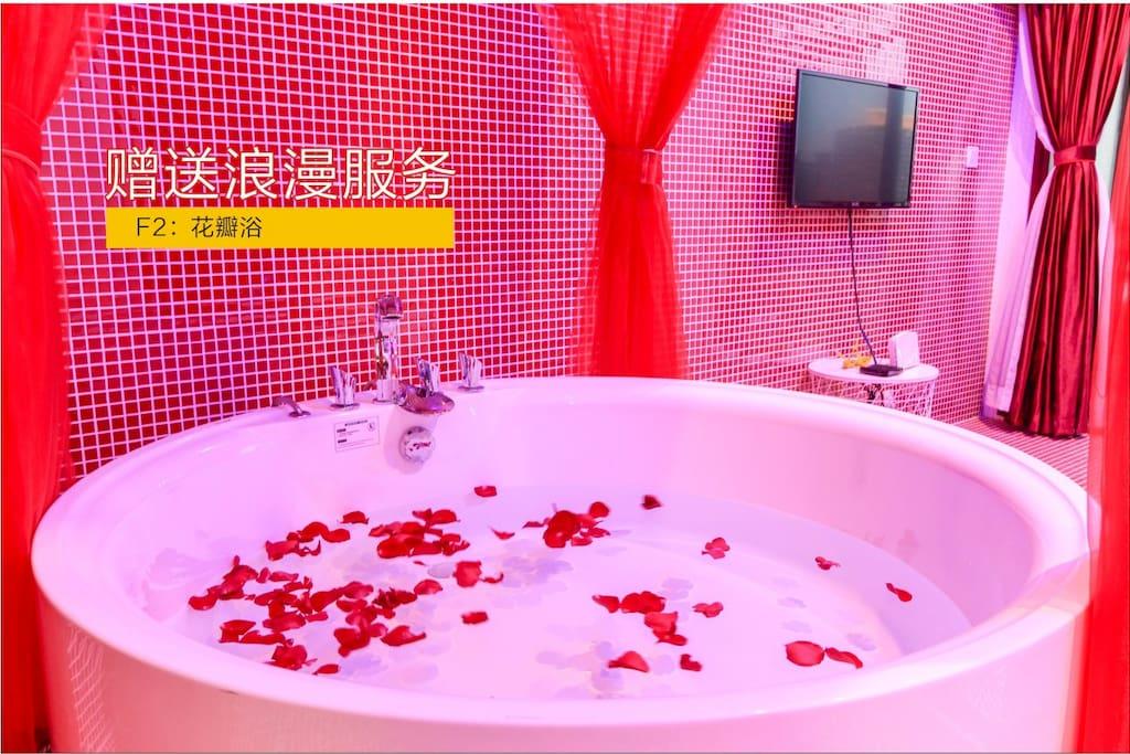 大浴缸可以泡澡哦