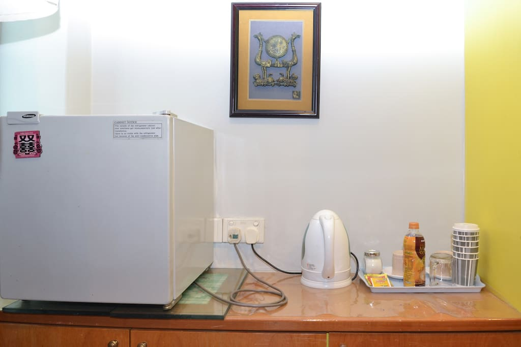 Small fridge & water boiler