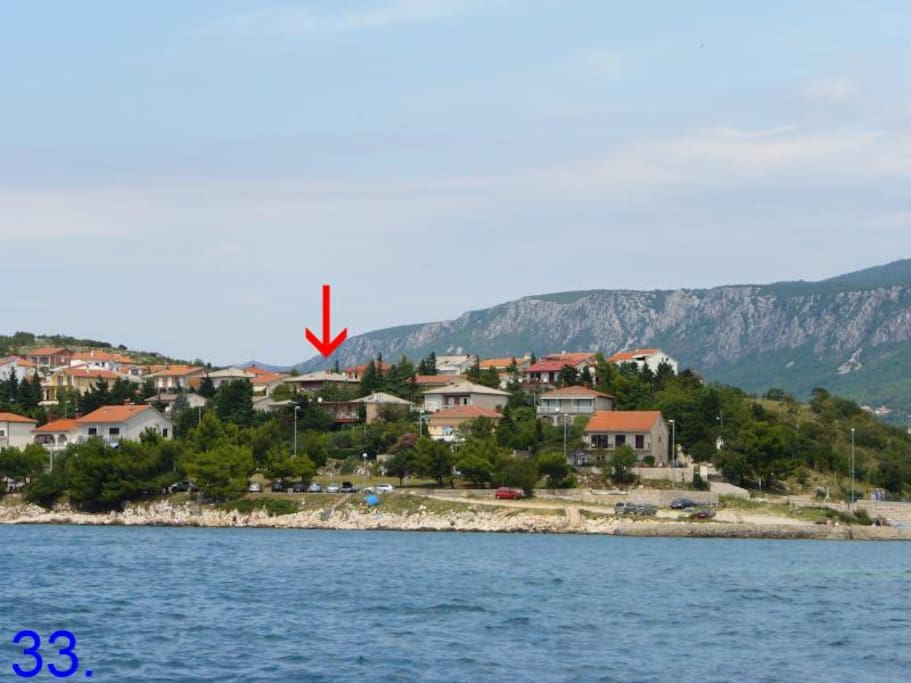 view on hous from sea