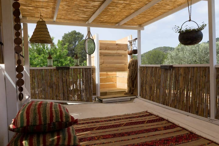Room with private patio, countryside North Ibiza