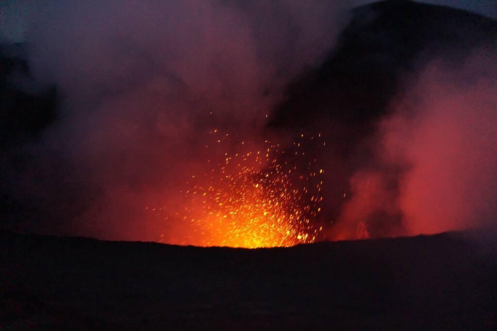 Yasur Volcano explosion