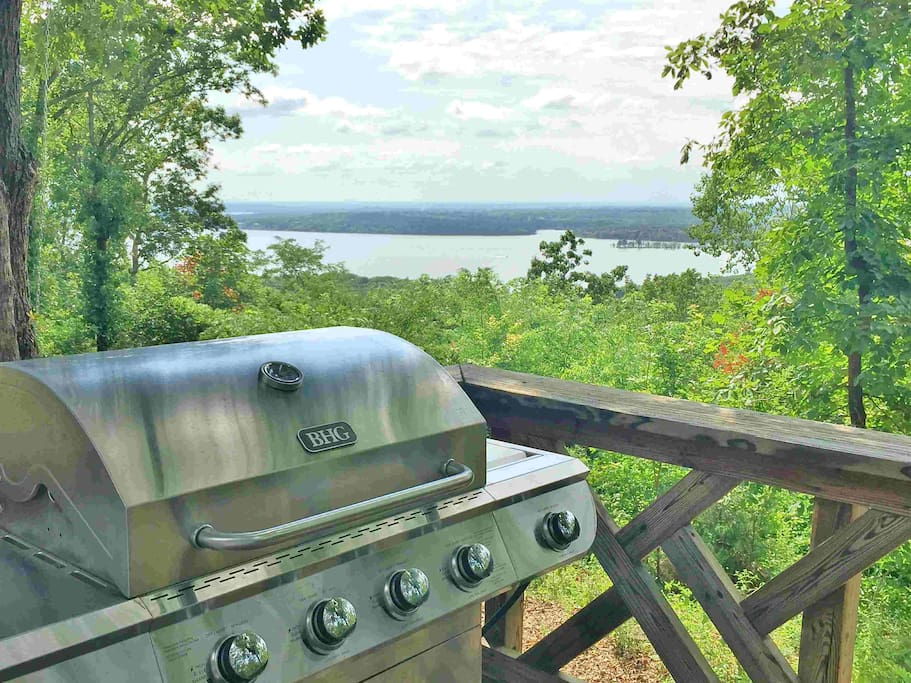 Grill out with a beautiful view.