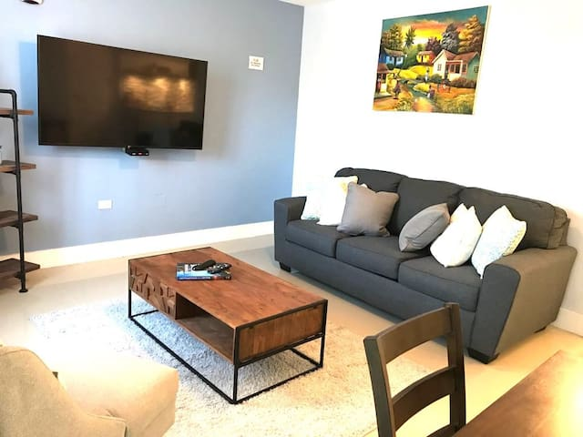 Living room - Perfect place to crash after a day at the beach