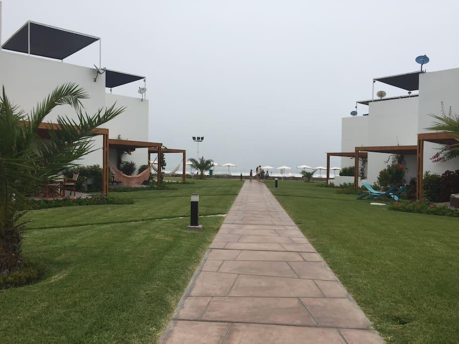 Vista / camino a la playa