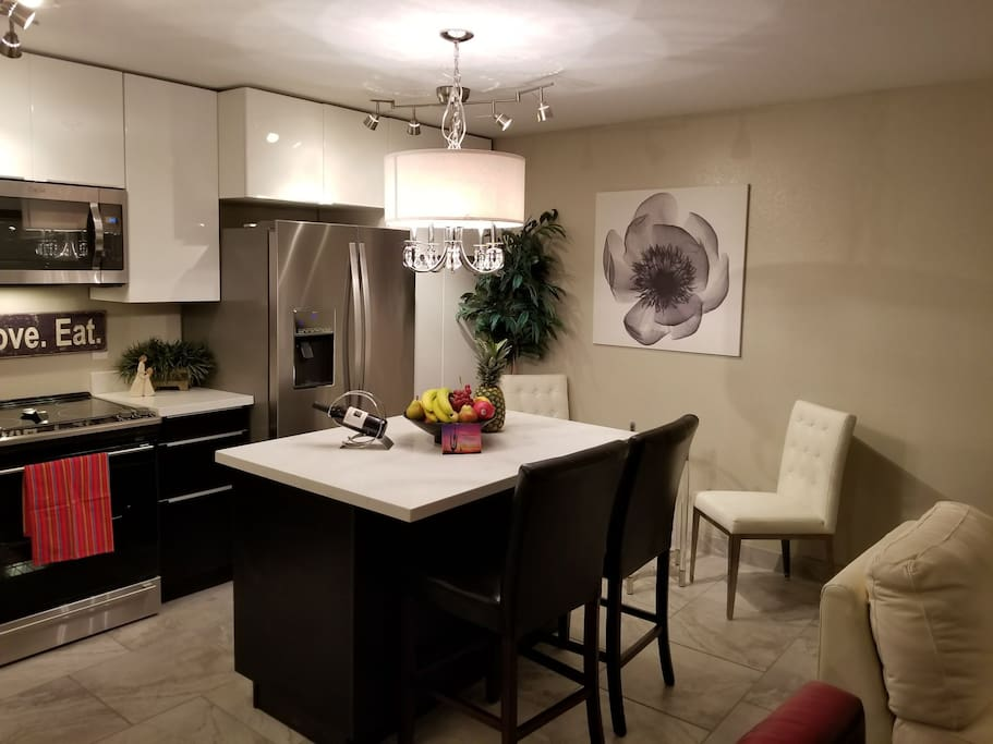 Kitchen brand new with Stainless appliances, Quartz countertops & new cabinets!