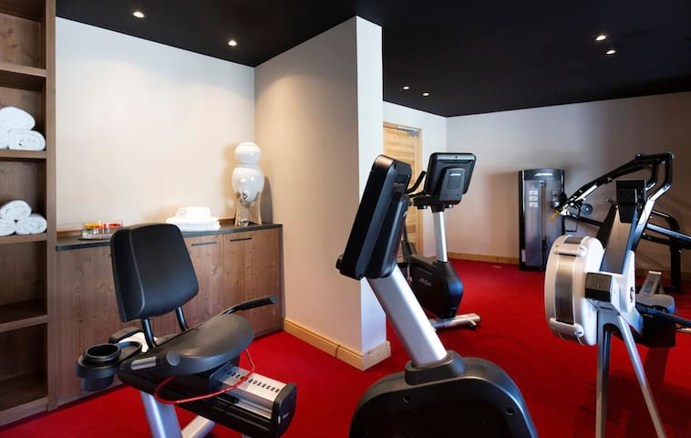 Keep up with your fitness routine in the on-site fitness centre.