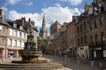 le centre de la ville de Guingamp