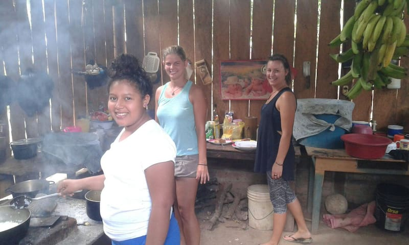 Cooking Lessons in a traditional Nicaraguan way using the firewood kitchen