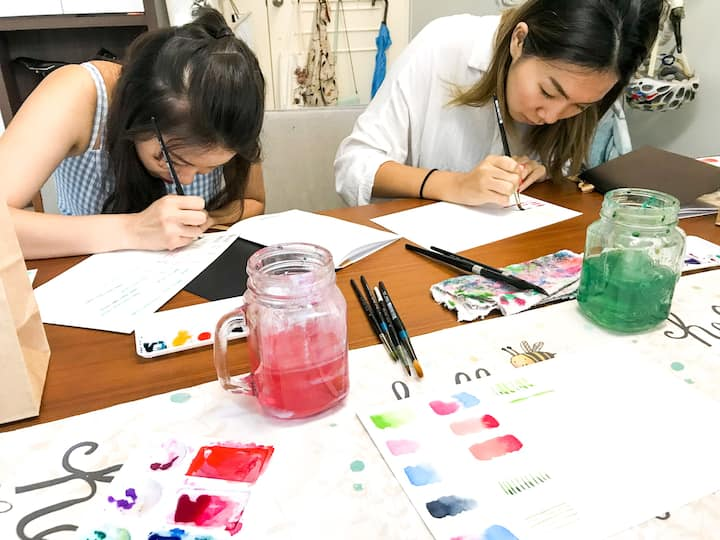 Exploring colour values & strokes
