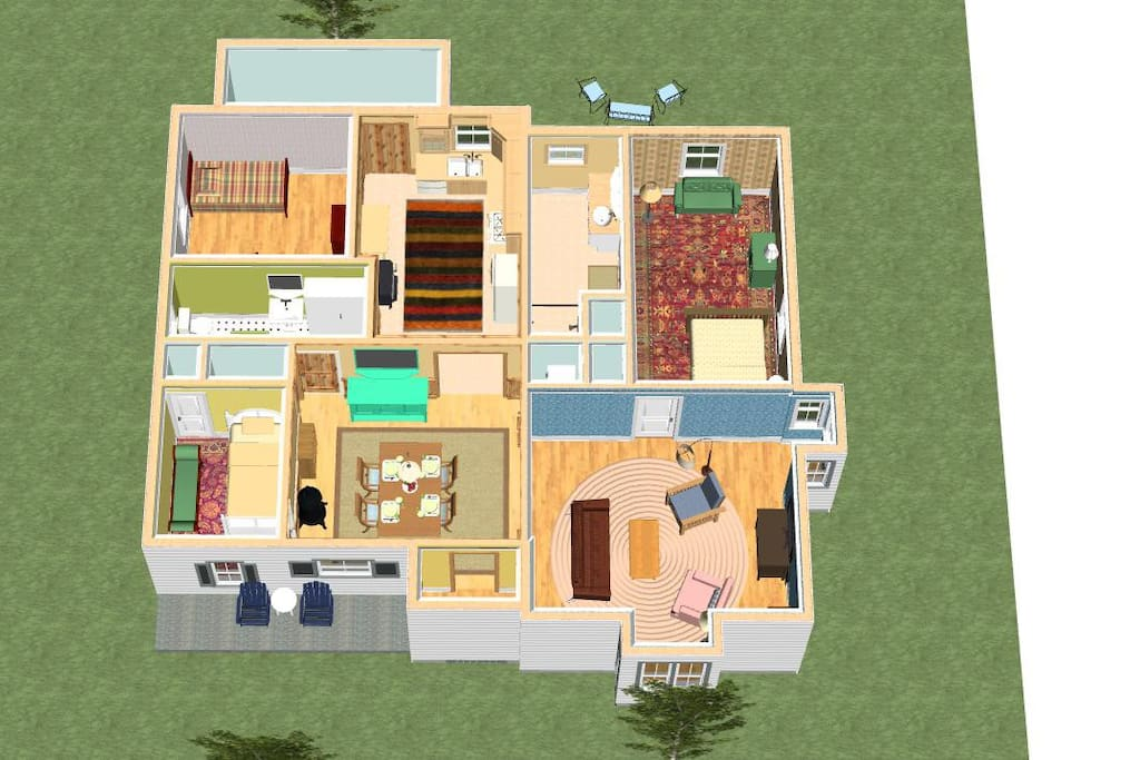 3D graphic of our house -- will help you see what our property has to offer!
