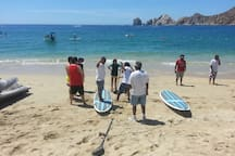 Paddle surf lessons and rentals at the beach!