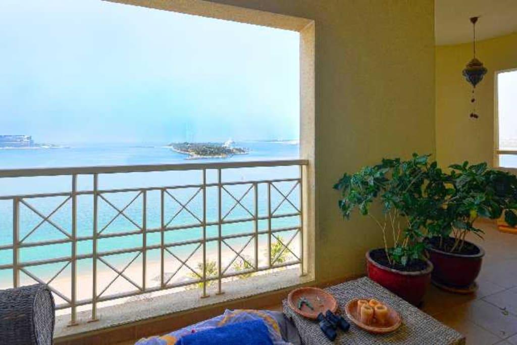 Full sea views from both balconies.