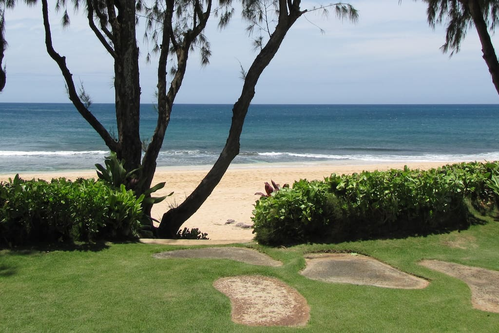 Welcome home! Private access to the beach just two steps away!