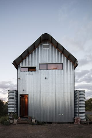 The Recyclable House - west entrance