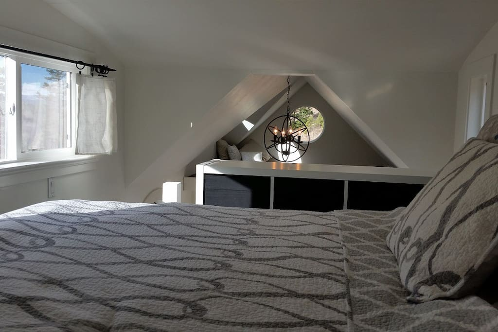 bright main loft sleeping area