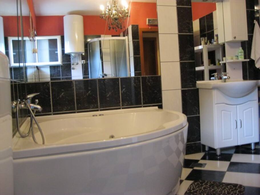 Bathroom with Jacuzzi tub and shower tub 2