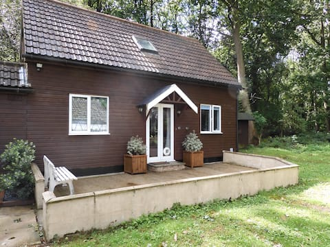 Gingerbread House in a quiet woodland setting