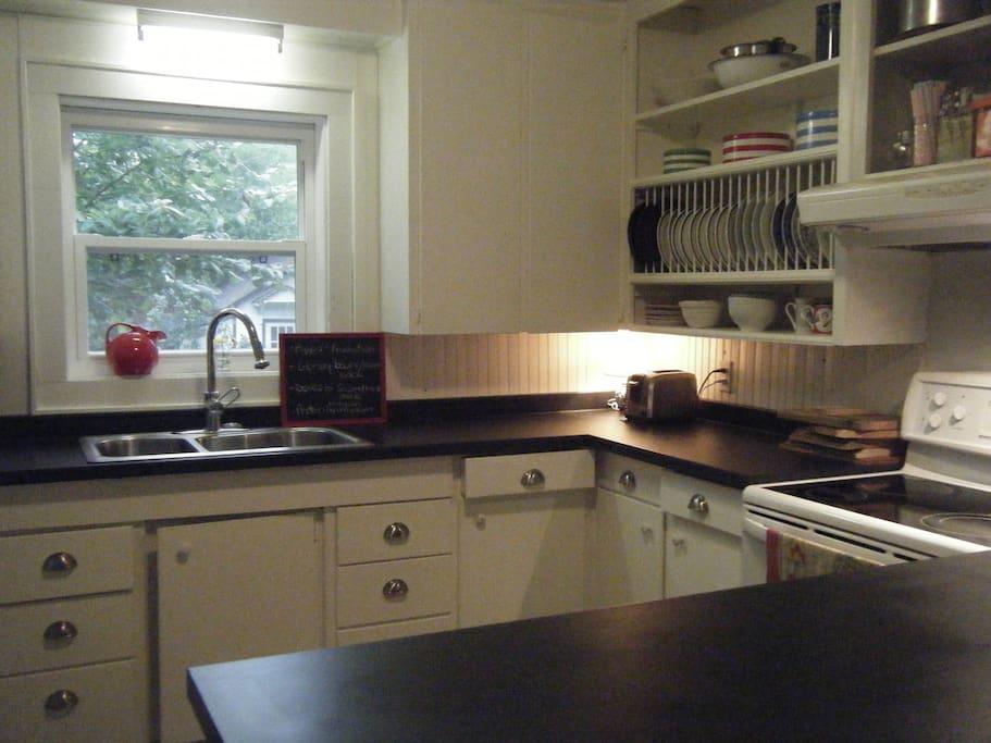 Restored vintage kitchen