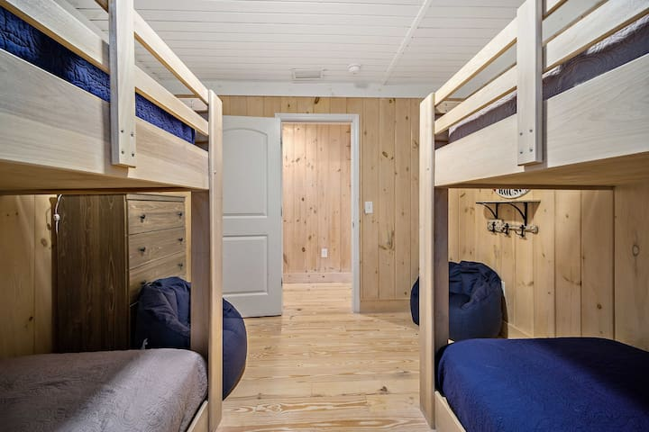 BR #3 with two bunk beds that sleep 8.