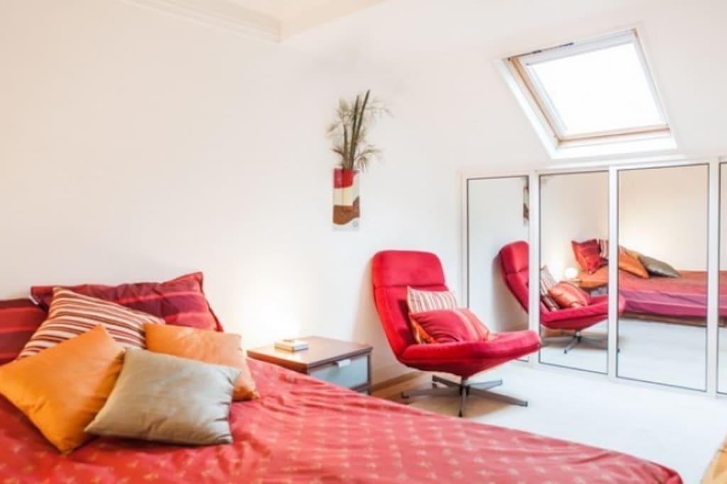 precisosa y romantica habitacion