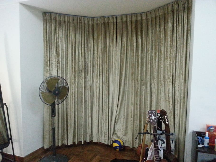 Curtains are sound-proof =)
