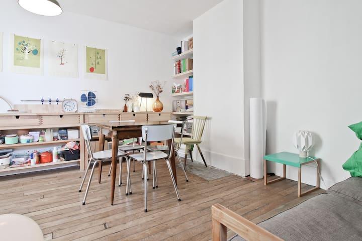 Quiet apartment rue Oberkampf.