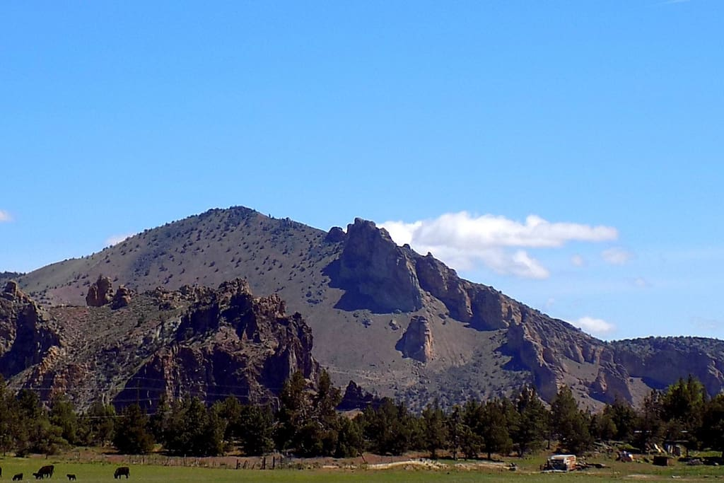 What will be your view of Smith Rock from your RV space.