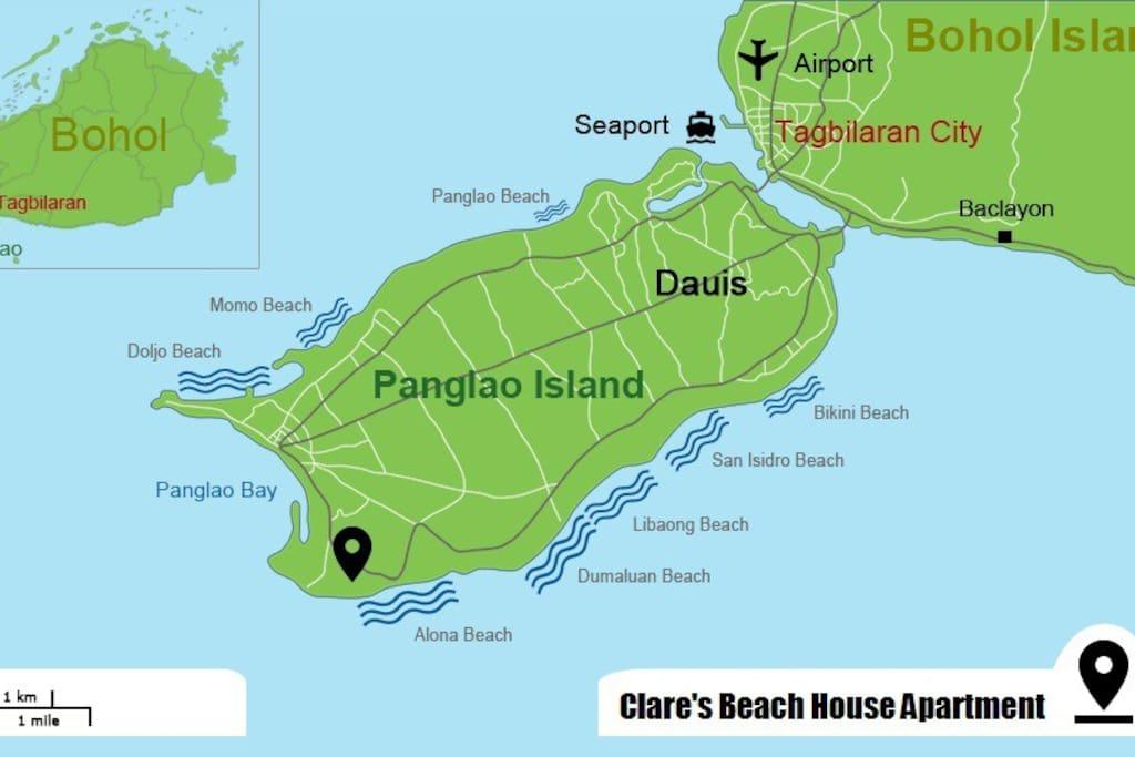 Beach House Apartment Map