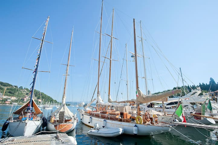 The yacht is docked in LeGrazie - Portovenere a true Italian fishing town with no tourist