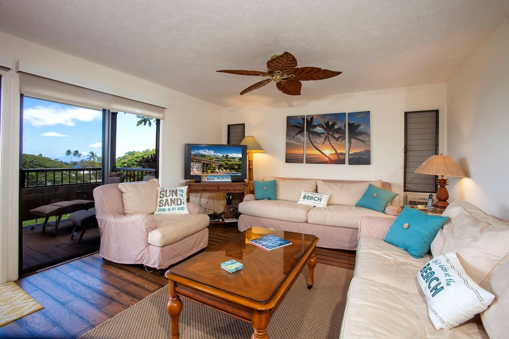 Enjoy Maui Breeze and views from the living room
