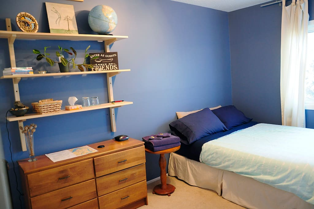Bedroom with comfy double bed